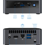 Intel NUC10i5FNH Linux Mini Connections