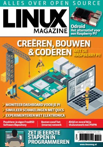 Linux Magazine Jaargang 21 September 2020 Voorblad